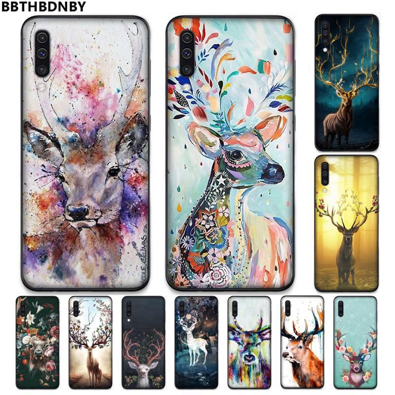 Flechas ciervo alce animal pintura teléfono funda para Samsung S7 S6 edge S8 S9 S10 e plus A10 A50 A70 note8 J7 2017