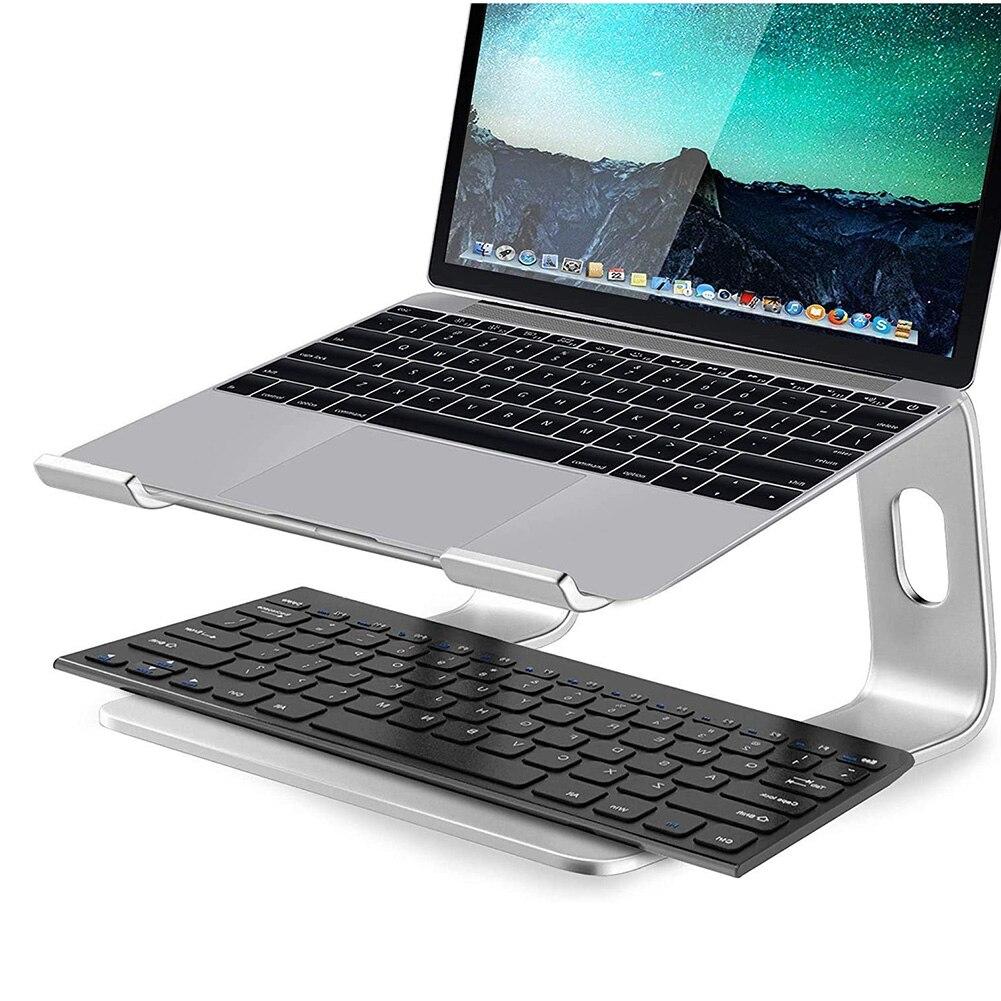 سبائك الألومنيوم أجهزة الكمبيوتر المحمولة الناهض قوس دعم المحمولة الكمبيوتر المحمول تبريد الرف سطح المكتب زيادة دعم حامل لماك بوك