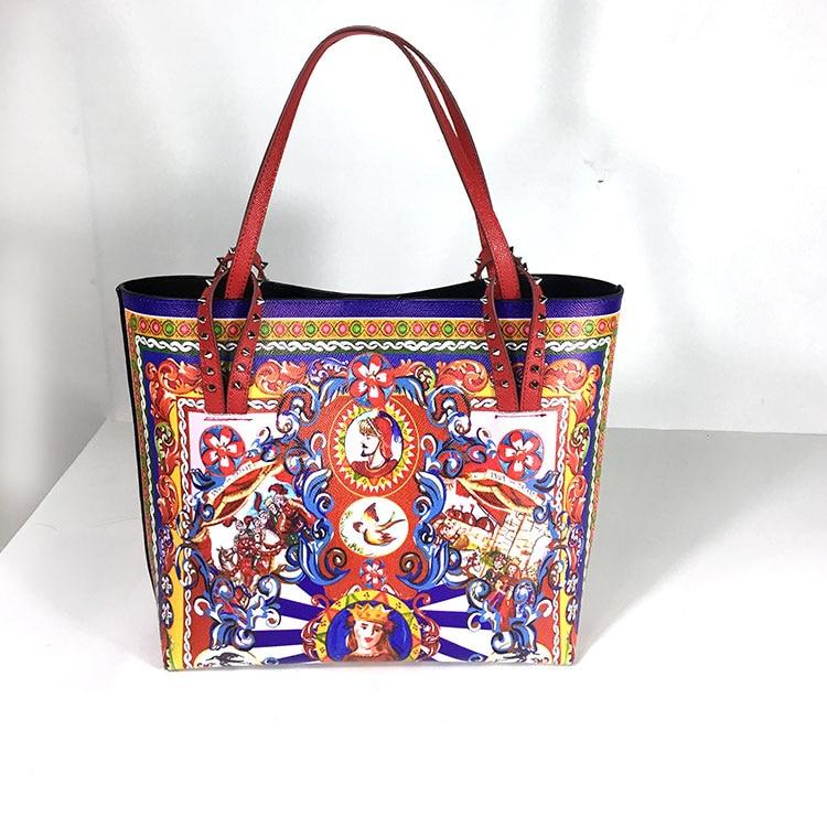 حقيبة يد نسائية عصرية مصممة على شكل جرافيتي من الجلد حقيبة صغيرة فاخرة مفتوحة حقيبة سهرة للسيدات بسعة كبيرة 2019