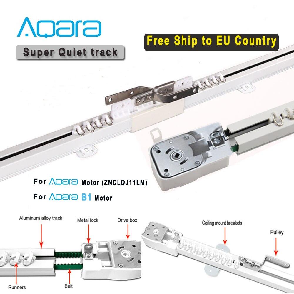 Бесплатная доставка в страны ЕС, супер Бесшумная электрическая шторная дорожка для мотора Aqara B1, умная система управления шторной железной ...