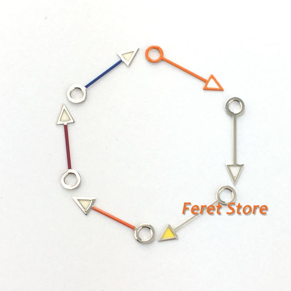 Часы GMT с красным, оранжевым, синим, серебряным и золотым циферблатом, 12 мм, автоматический механизм mingzhu DG3804 P233