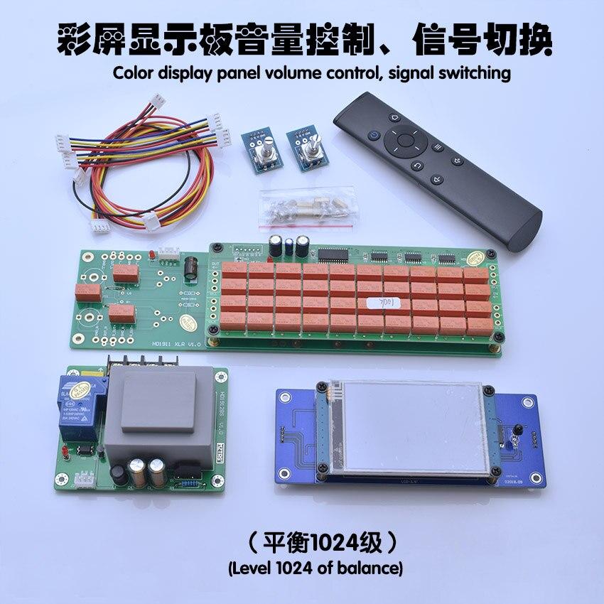 لوحة التحكم في مستوى الصوت ALPS27 ، شاشة LED ملونة 3.5 بوصة ، جهاز تحكم عن بعد ، مقياس جهد المحرك ، مقاومة التتابع غير المتوازنة