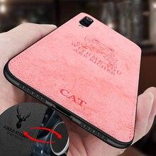 ل شاومي Redmi 8 حافظة قماش الملمس القط ثلاثية الأبعاد لينة المغناطيسي سيارة مغناطيس لوحة الحال بالنسبة Xaomi Redmi 8 غطاء سيليكون Funda eتوي
