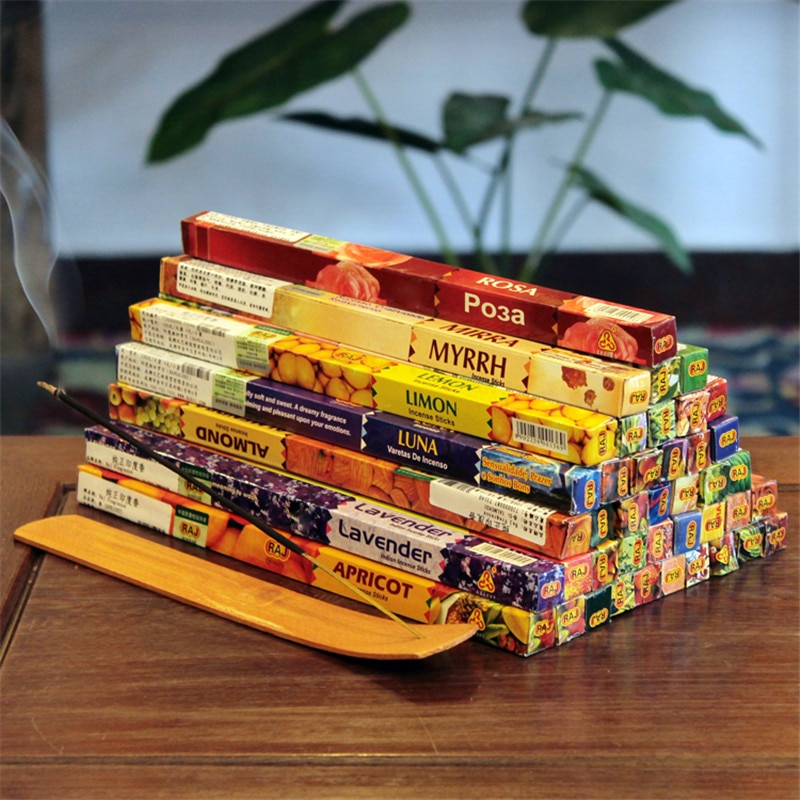 8pcs/lot Tibetan 22 Cm India Stick Incenses White Sage Sandalwood Natural Household Indoor Clean Air Indian Incense Sticks