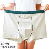4pcslot 9xl plus size men underwear cotton mens underware breathable seamless underpants sexy family panties male boxer for man