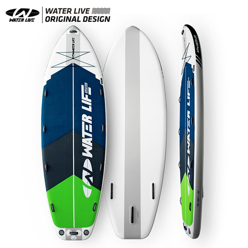 WATERLIVE Monster Board Super Long 15' Team Surfboard Sup Inflatable Multiplayer Water Sports Bus Board Equipped With Paddles