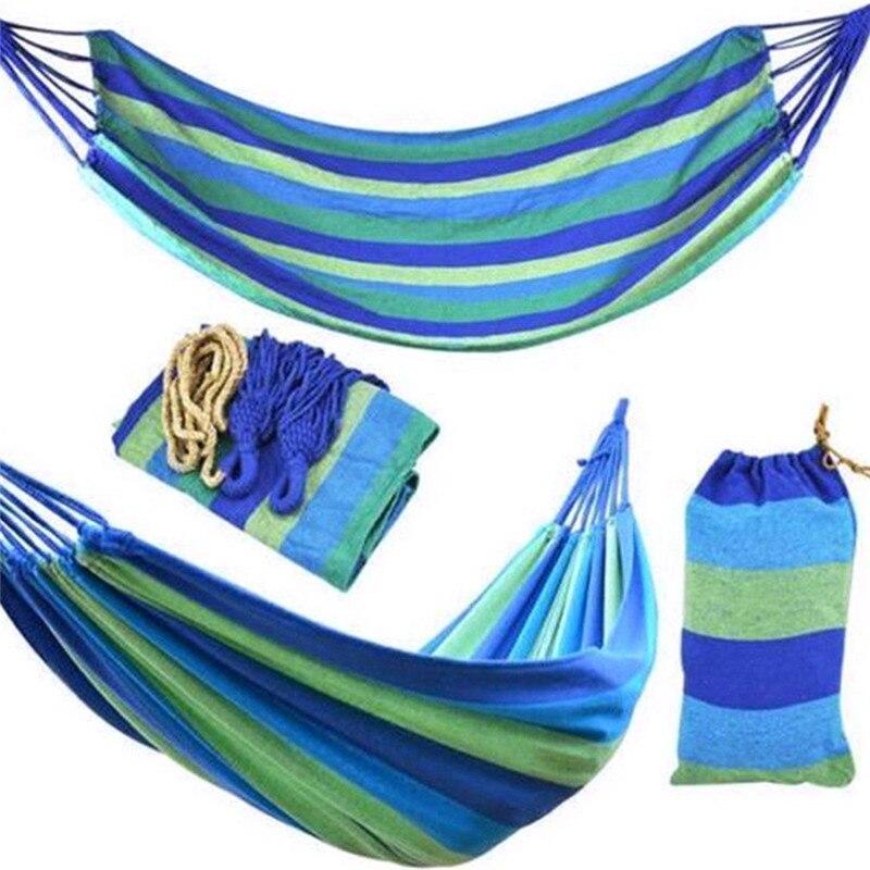Двойной гамак из толстой холщовой ткани, уличная качели для отдыха и походов, портативная подвесная кровать, Подвесные качели для сна