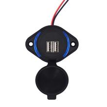 Nouvelles Adaptations chargeur double USB 3.1A 12/24V adaptateur secteur chargeur étanche prise USB pour Bus Auto moto voiture