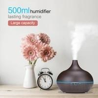 JKO 500ml A Ultrasons Mini Humidificateur Dair Essentiel Aromatherapie Huile Diffuseur Brumisateur LED Lampe De Nuit Pour La Maison A Distance