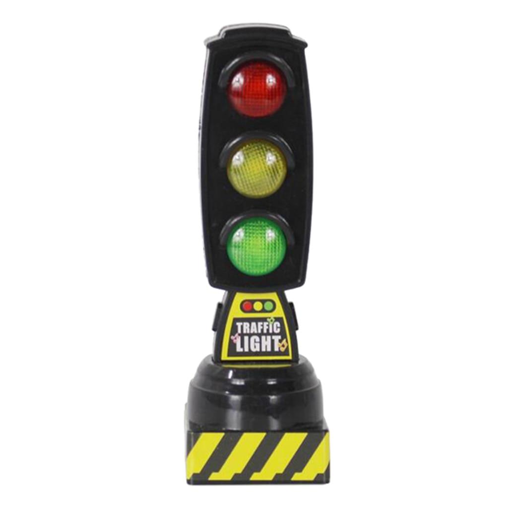 Двухсторонние светофоры с имитацией дорожного знака, дорожные сигналы с основанием, Игрушки для раннего обучения для мальчиков и девочек
