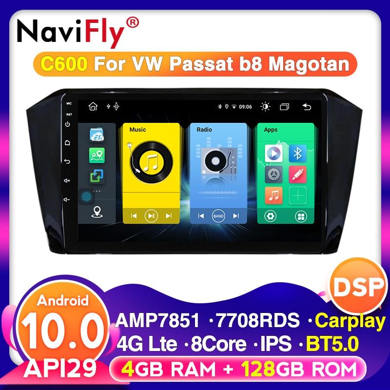 Built-in carply 4g lte android auto rádio estéreo carro navegação gps para vw volkswagen passat b8 magotan multimídia 2din