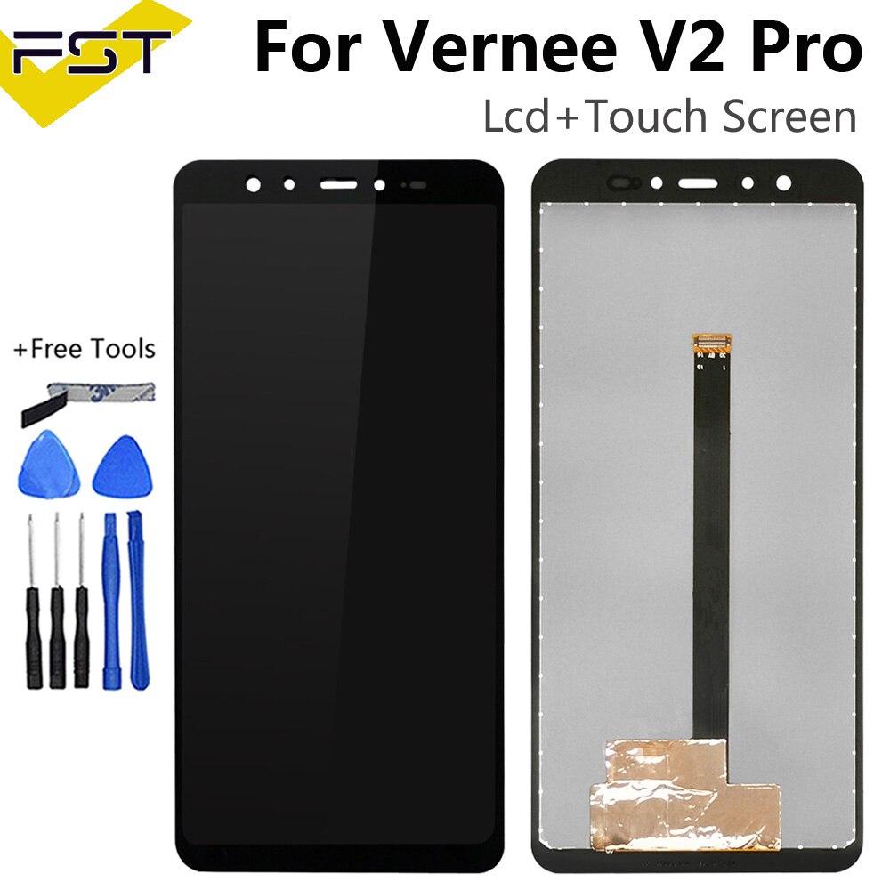 شاشة Vernee V2 Pro LCD 5.99 بوصة ، قطع غيار مع مجموعة محول رقمي لشاشة تعمل باللمس ، ملحقات هاتف Vernee V2 Pro ، أدوات