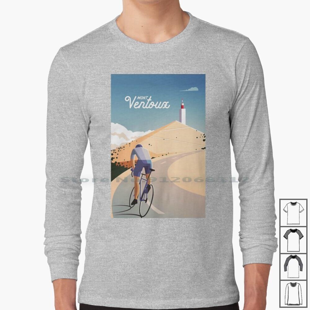 Ventoux Mont Long Sleeve T Shirt Bicycle Tour Velo Vintage Typogaphy France Cyclist Sky Trending 2020