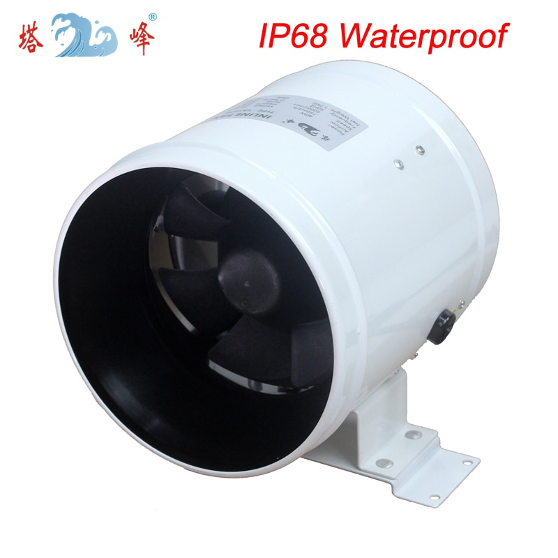 8 inch mixed flow fan dehumidification greenhouse inline duct fan blower totaly waterproof large air flow fan 6 150mm high efficiency inline duct fan exhaust fan mixed flow hydroponic air blower for home bathroom greenhouse ventilation