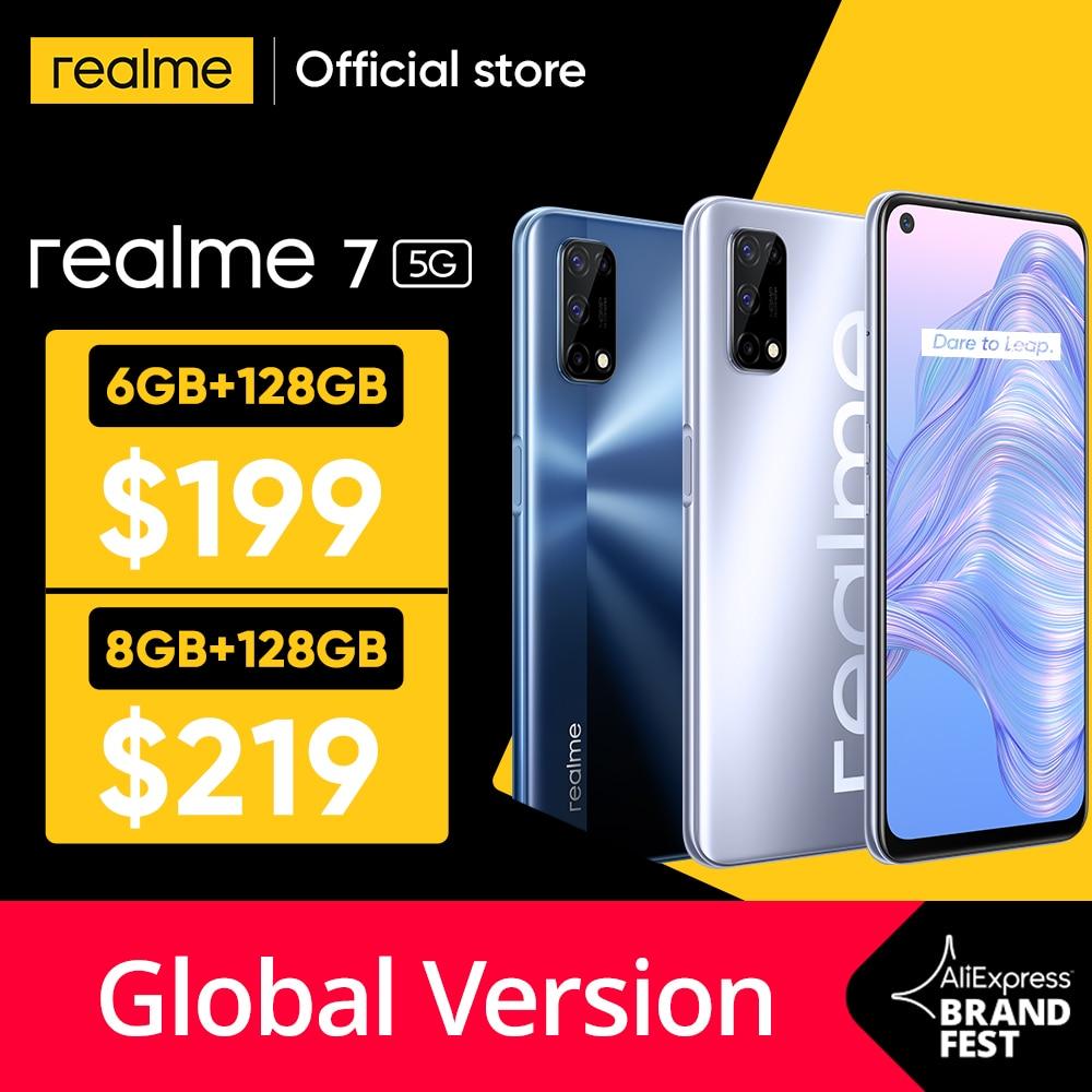 aliexpress.com - [World Premiere In Stock]realme 7 5G Dimensity 800U 6GB 128GB 120Hz Display 48MP Camera 5000mAh Global Version 30W Dart Charger