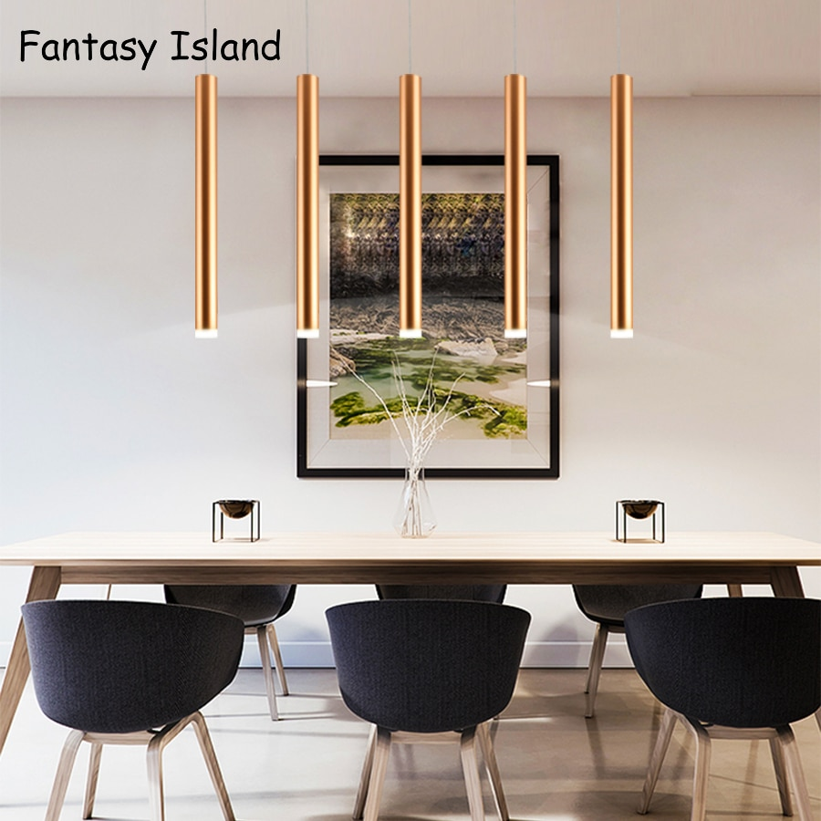 Lámpara de araña AC90-265V para cocina, lámpara colgante led moderna para cocina, escaleras, restaurante