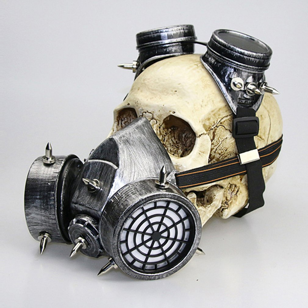 Steampunk Gothic Vintage Spikes Gas Mask Goggles Cosplay Props Halloween Easter Costume Accessories Men/Women halloween cosplay steampunk plague doctor mask bird beak props gothic masks