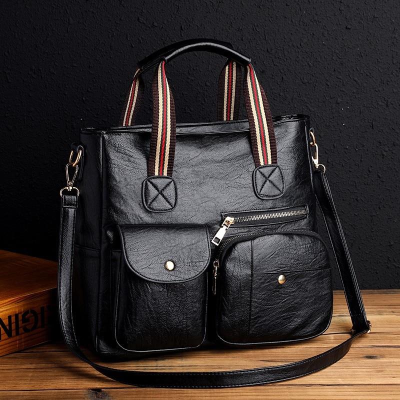 حقائب كتف نسائية عالية السعة بو الجلود حقائب يد نسائية حقائب كروسبودي سيدة حقيبة ساعي 2021 حقائب يد نسائية حمل الحقائب