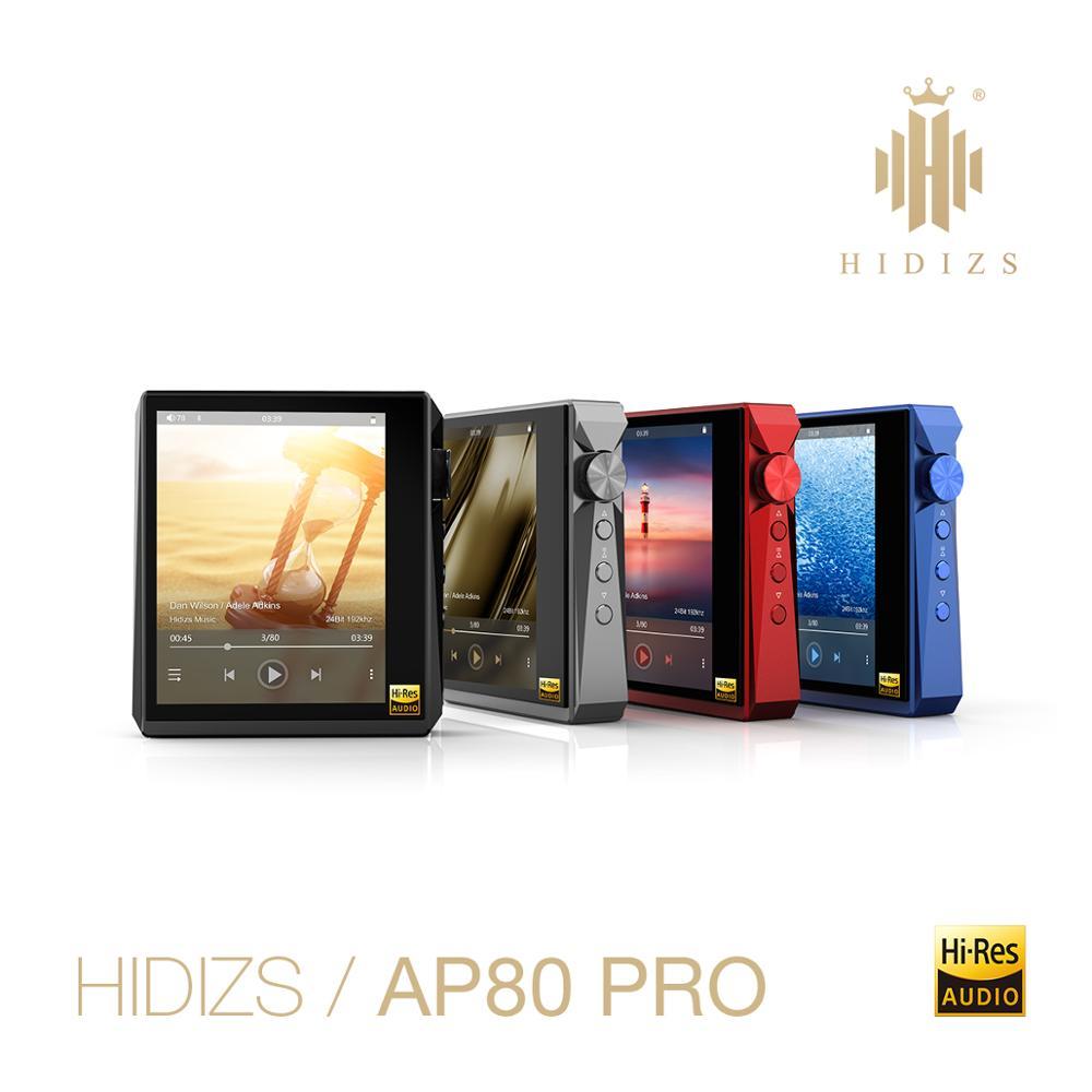 Hidizs AP80 PRO dual ESS921 MP3 reproductor de música Bluetooth con pantalla táctil HiFi portátil FLAC tecnología LDAC USB DAC DSD 64/128 FM Radio DAP