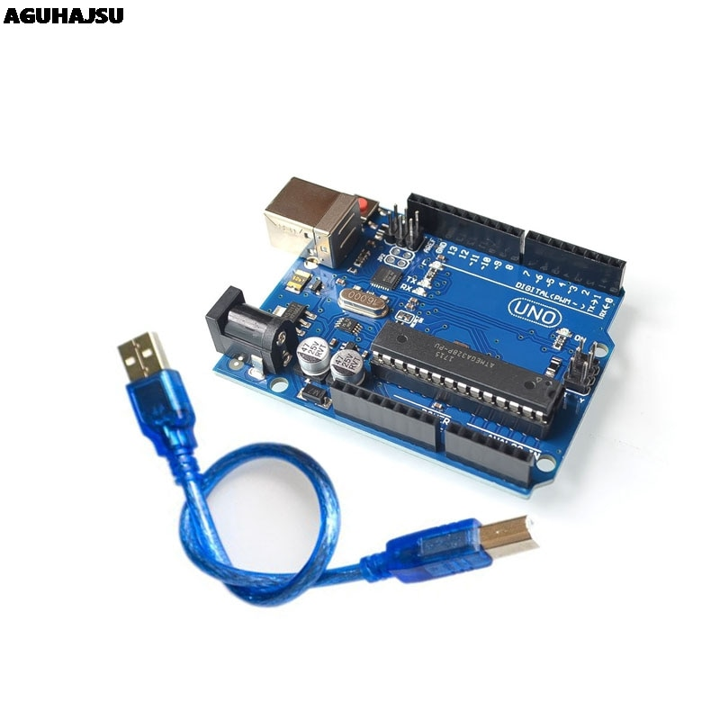 Высокое качество один набор UNO R3 официальная коробка ATMEGA16U2 + MEGA328P чип для Arduino UNO R3 макетная плата + USB кабель