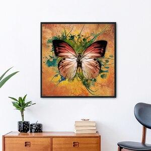 Штамп вышивки крестом Наборы бабочка портрет 3-волокнистый шнур экологического хлопка нить 11CT растянутый холст печать на ткани рукоделие Набор «сделай сам»