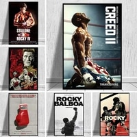 rocky classic movie posters and prints watercolor rocky balboa boxing canvas painting cuadros wall art picture art home decor