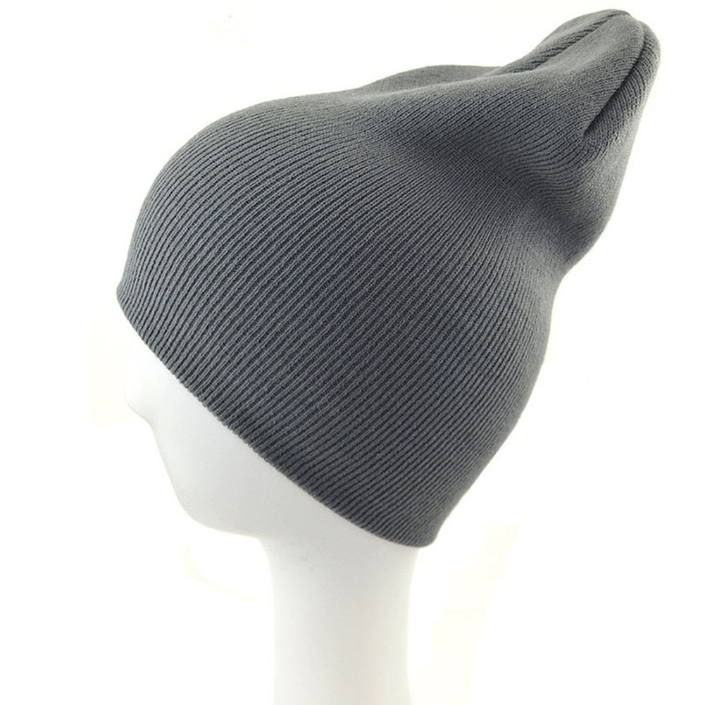 New Casual Solid Fluorescent Skull&Beanies Hat For Women Knit Hat Winter Wool Blend Soft Warm Knitte