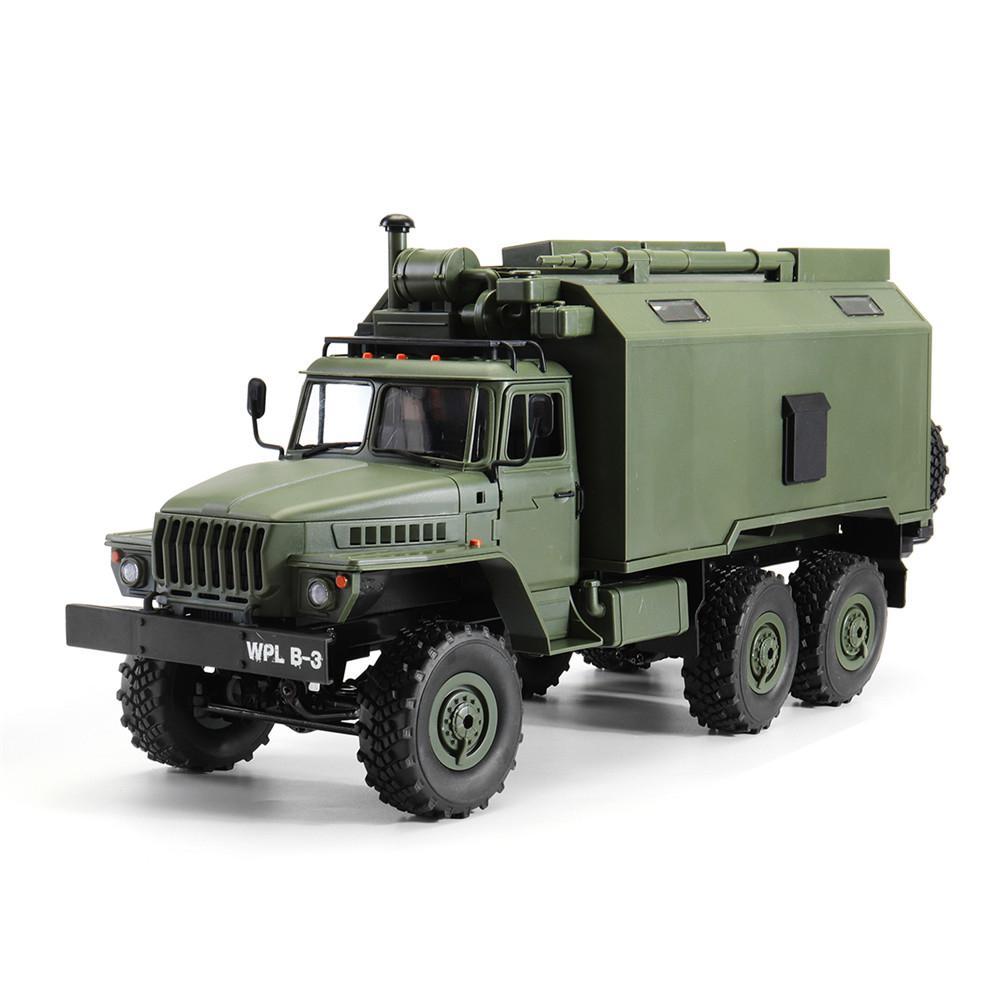 RCtown WPL B36 Ural 1/16 Kit 2,4G 6WD Rc coche Camión Militar Rock Crawler No ESC batería cargador del transmisor