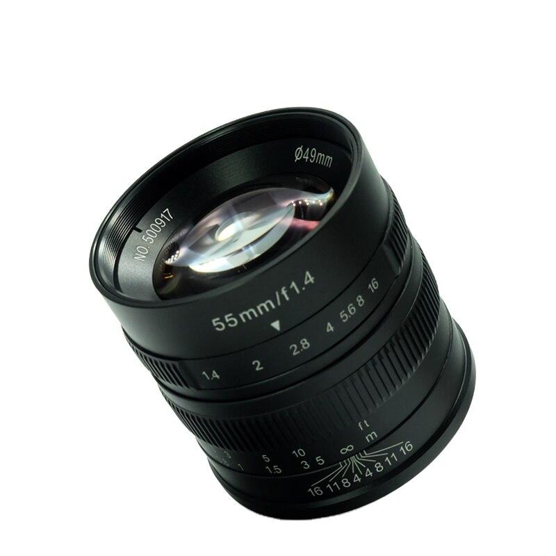 55mm F1.4 Large Aperture Portrait Manual Focus Micro Camera Lens Fit for  Mount DSLR Cameras