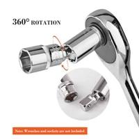 14 38 12 universal joint set ratchet angle extension bar socket adapter manual and pneumatic bendable adapter socket tools