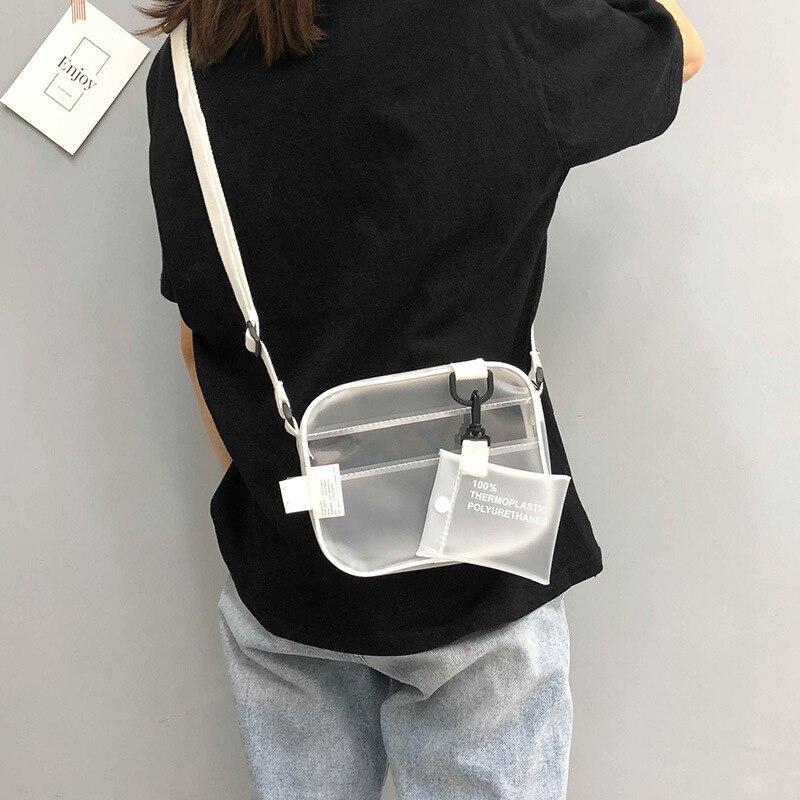 Meninas da moda PVC Transparente bolsa de Ombro Geléia Saco de Mulher Crossbody Sacos E Sacos de Telefone Pequenas Bolsas Casuais 670