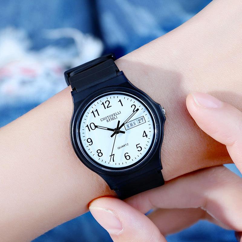 New Casual Quartz Watch Simple Fashion Classic Creative Calendar Waterproof Luminous Student Watch Multi-color Optional