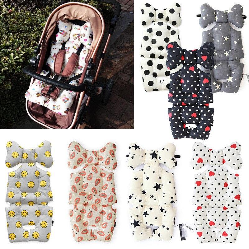 Fashion Printed Stroller Cushion Seat Cover Baby Diaper Pad Seat Pad Cotton Baby Stroller Mat Mattress Pram Stroller Accessories