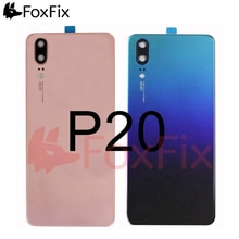 For Huawei P20 Back Battery Glass Cover+Camera Lens EML-L09 EML-L29 Rear Housing Door Case Panel for