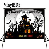 VinylBDS Backdrops Halloween Pumpkin Backdrop Cartoon Photography Backdrop TRick or Treat Background for Photo Studio