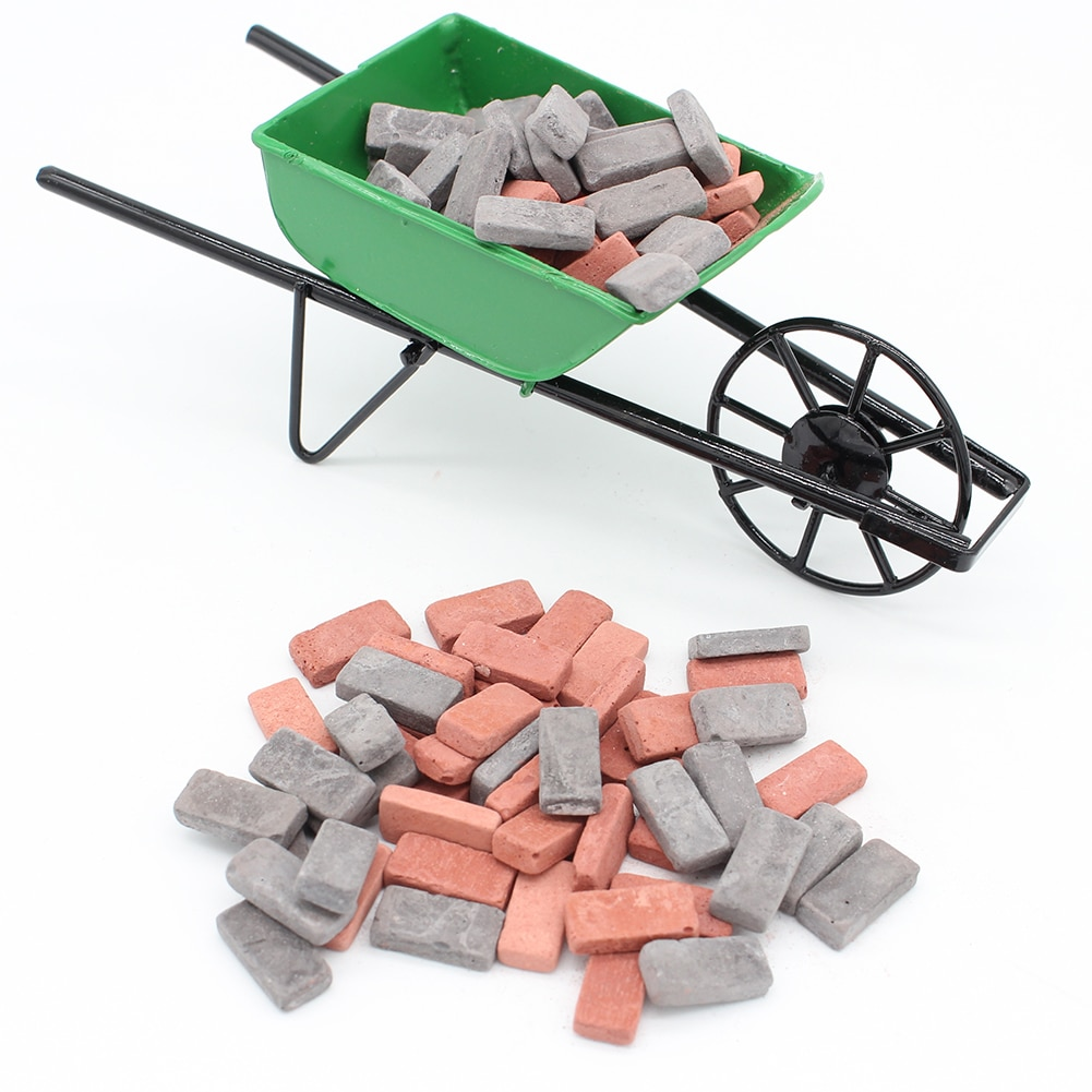 20pcs Casas de Brinquedo Adereços Casa Piso DIY Casa Em Miniatura Miniatura Folheado Do Tijolo Pedra Cortada para Pathing Jogos DIY Acessórios