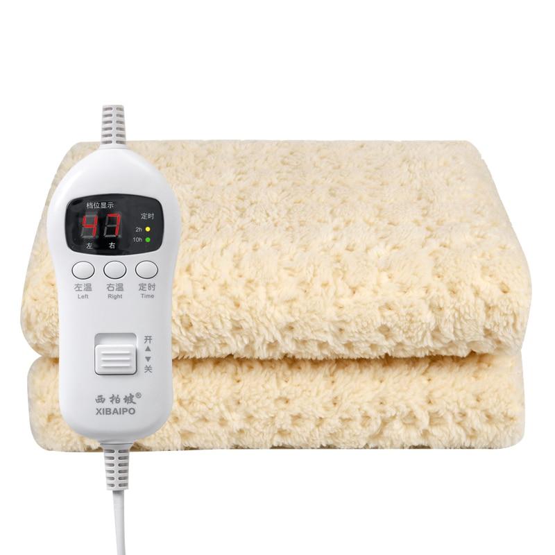 De algodón mantas eléctricas para camas eléctrico inteligente climatizada Manta eléctrica Recargable...