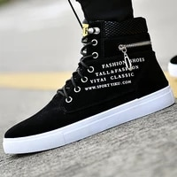 autumn winter mens canvas boots fashion high help ankle boots mens shoes comfortable sneaker canvas shoes large size shoes 4