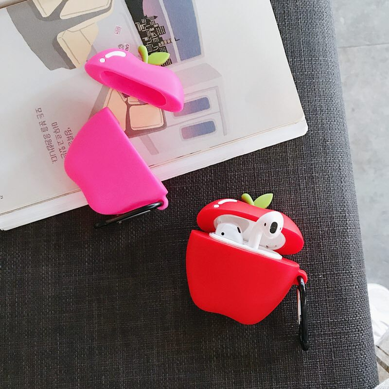 cute case for apple airpods case pink cartoon bluetooth earphone case for airpods 1 2 charging bags headphone soft case hooks For Airpods 1/2 Case,Cute Apple Case For Airpods Case,Soft TPU Protective Earphone Headphone Cover For AIrpods Pro Case