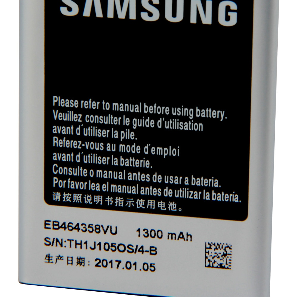 Samsung Phone Battery EB464358VU For Samsung GT-S6358 S7500 S6102E S6802 S6352 S7508 S6010 S6818u S6358 S6500D S6812I 1300mAh enlarge