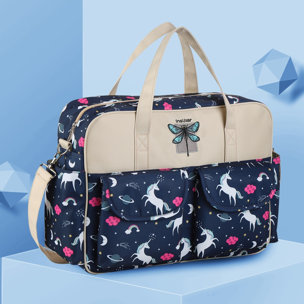 Cartoon Baby Diaper Bag Multifunctional Nappy Tote Bags Waterproof Mommy Changing Bag Mummy Stroller Bags