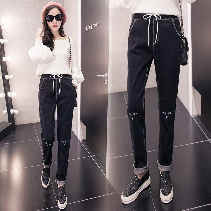 S-5XL 2020 Primavera y novedad de verano pantalones de mezclilla de talla grande pantalones bombachos holgados XXXXXL