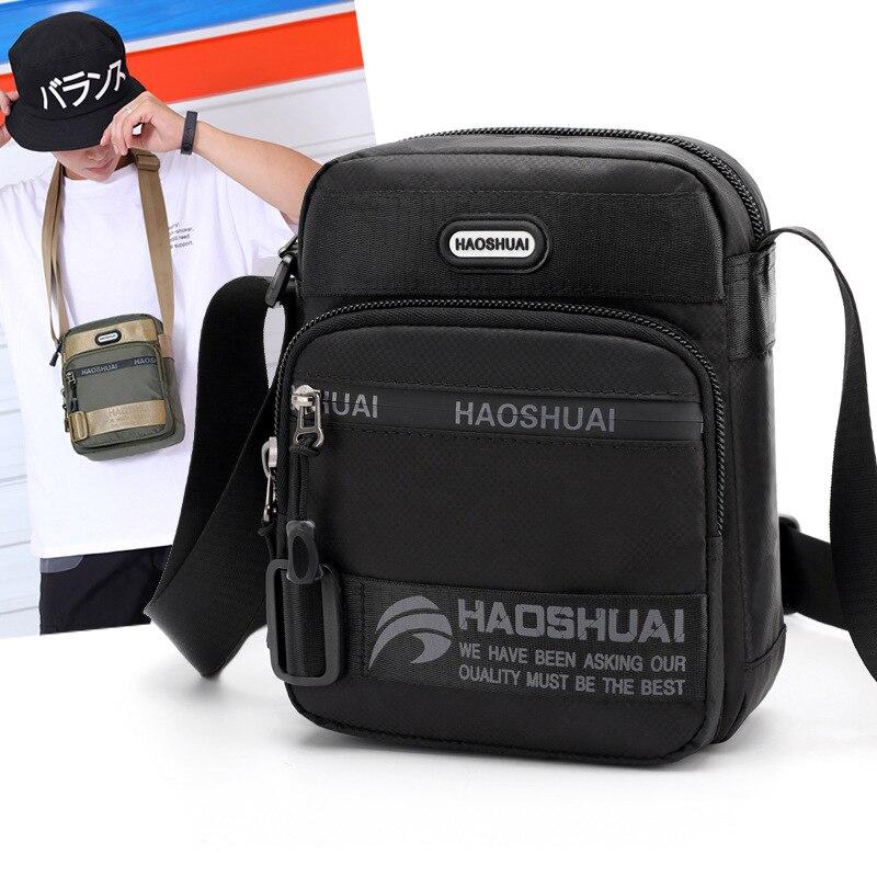 Forte náilon sacos de ombro unisex saco do mensageiro crossbody bolsas nova moda funcional zíperes vários bolsos fortes diferem