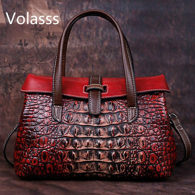 Сумка 2021 натуральная кожа на одно плечо дамские ручные сумки женские роскошные сумки женские сумки дизайнерские Аллигатор Bolsos Mujer