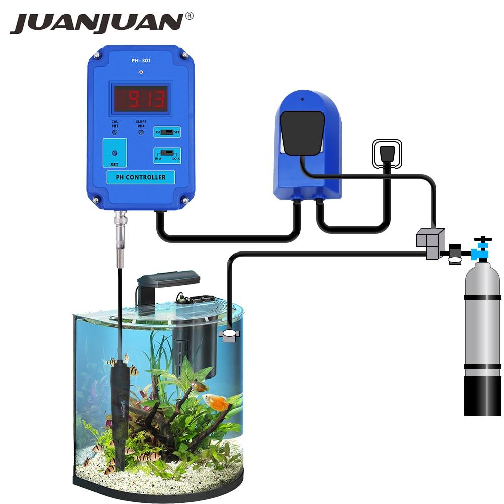 PH-301 الرقمية pH تحكم متر اختبار مع اختياري مرحبا/لو عمل 0.00 ~ 14.00pH المدى استبدال BNC القطب CO2 الحل