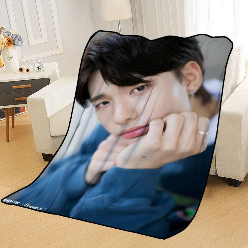 Hwang Hyun Jin-بطانية مطبوعة ناعمة ، للمنزل/الأريكة/الفراش ، محمولة ، للسفر ، للكبار