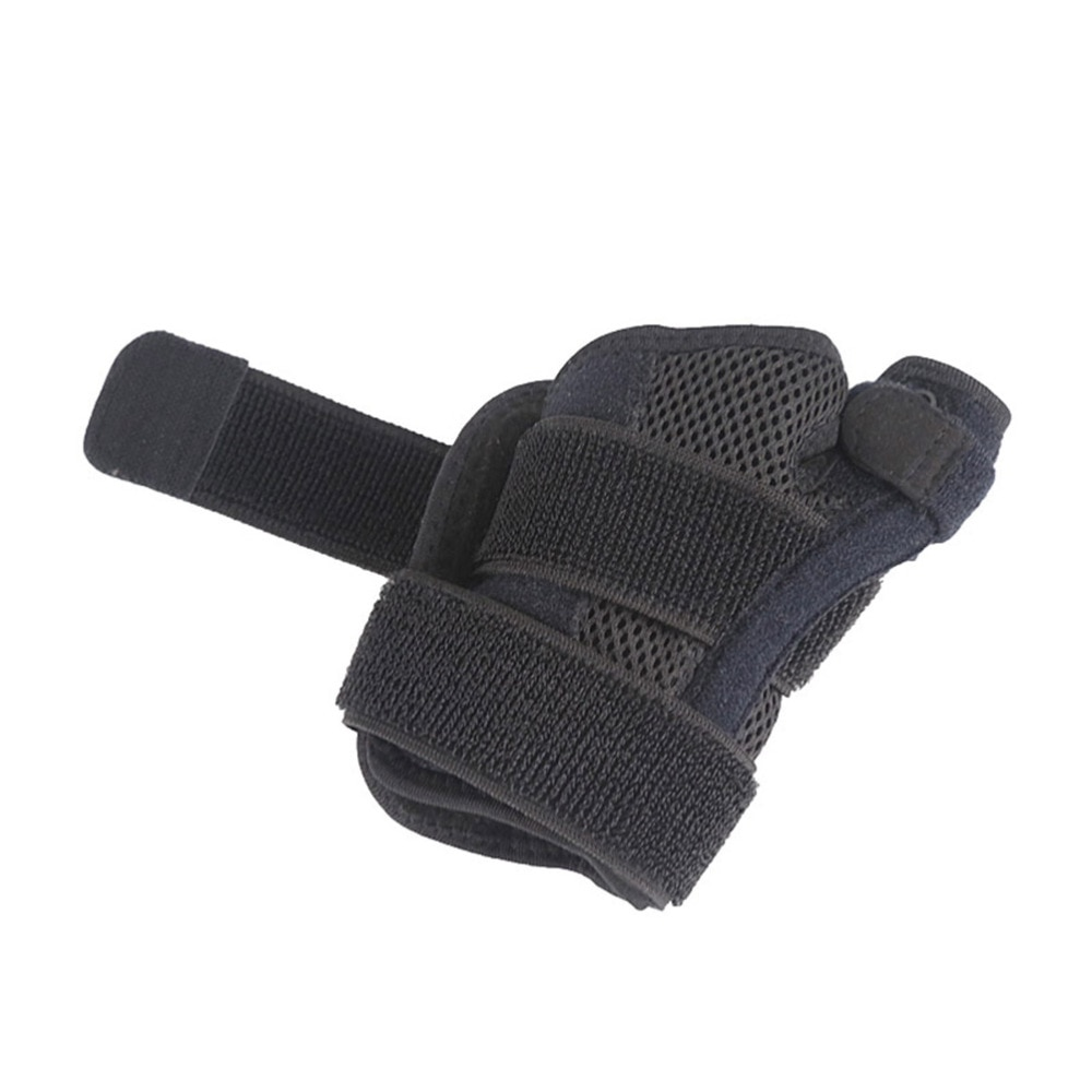 1pc Adjustable Finger Support Holder Wrist Band Thumb Two-way Support Brace Protector