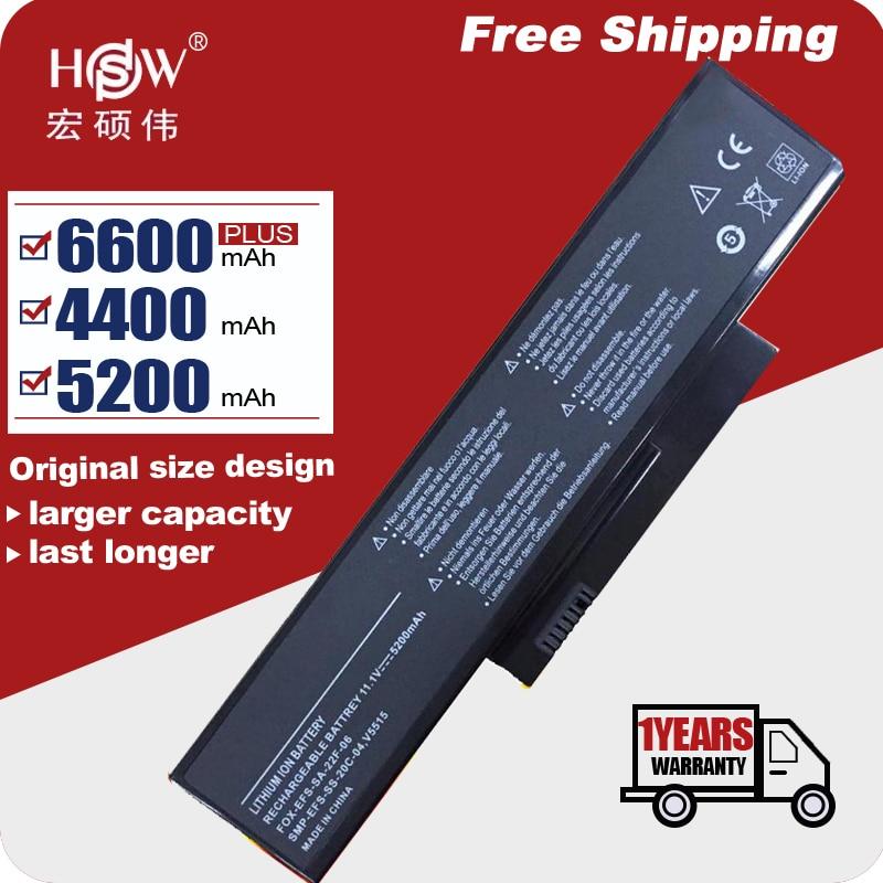 11.1v 4400mah bateria do portátil para fujitsu siemens esprimo v5515 v5535 v5555 bateria SA-XXF-06 FOX-EFS-SA-22F-06 frete grátis