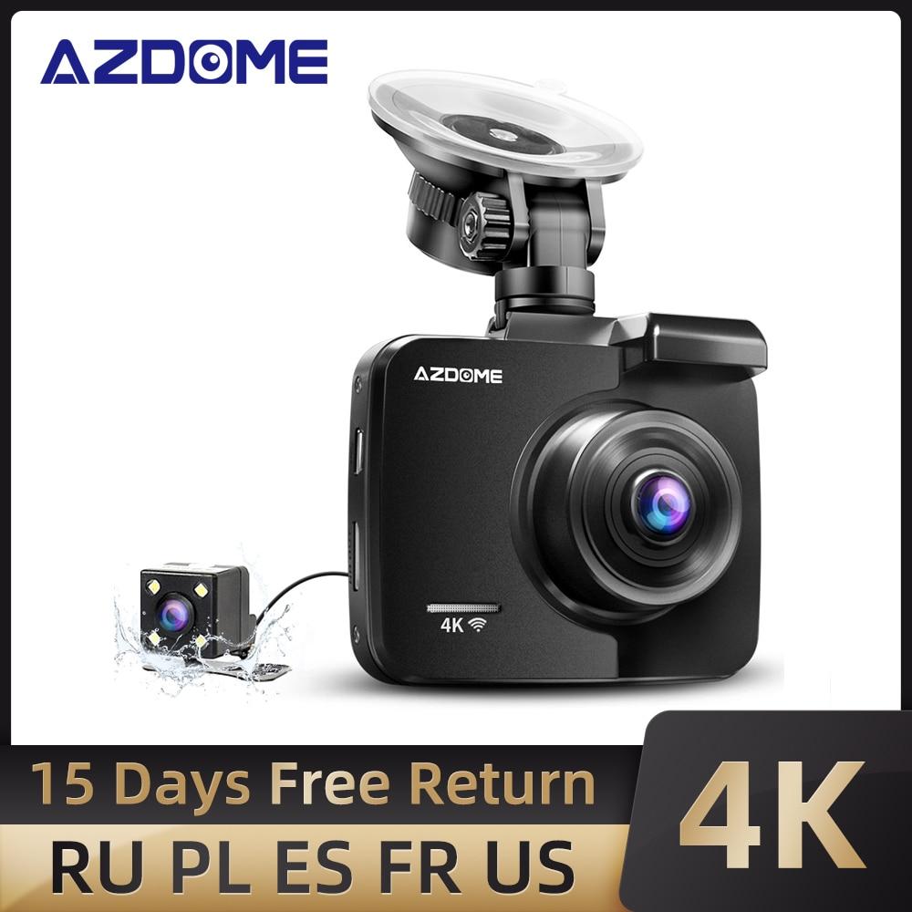 AZDOME GS63H 4K/2880*2160P WiFi سيارة DVRs مسجل داش كاميرا بنيت في GPS WDR للرؤية الليلية دعم المزدوج كاميرا الخلفية الكاميرا الخلفية