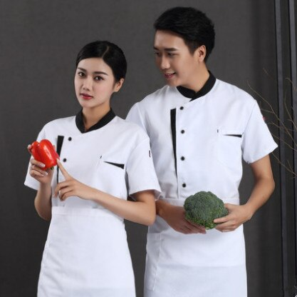 new Denim Fabric Chef Jackets restaurant uniforms shirts long sleeves restaurant uniform chef clothes hotel uniform chef coat